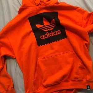 Orange / Black Adidas Hoodie ( Authentic )